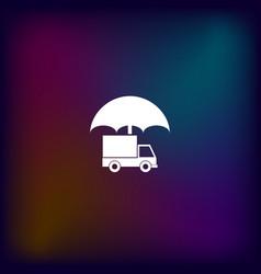 cargo insurance icon vector image
