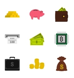 Cash icons set flat style vector image