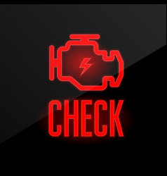 check engine icon - blinking indicator on vector image