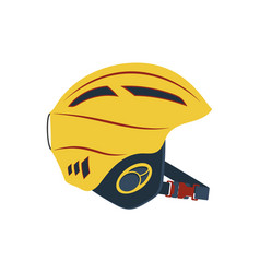 Climbing safety helmet isolated icon vector