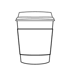 coffee cup outline vector image