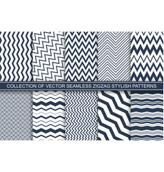 collection geometric seamless striped patterns vector image