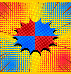 comic book page explosive concept vector image