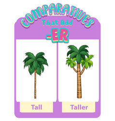 Comparative adjectives for word tall vector