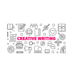 creative writing horizontal linear vector image