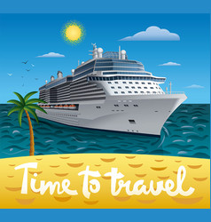 Cruise ship resort vector