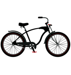 cruiser bicycle vector image