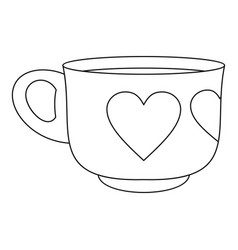 cup icon outline style vector image