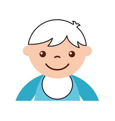 Cute boy baby avatar character vector