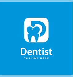 dental health logo design and initials d vector image