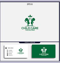 Design logo child care simple concept vector