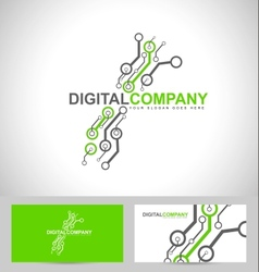 Digital electronics logo vector