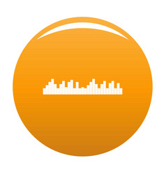 Equalizer frequency icon orange vector