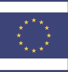 europe union flag vector image
