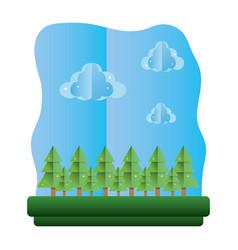 Exotic trees ecology preserve landscape vector