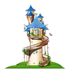 Fabulous tower with balcony vector