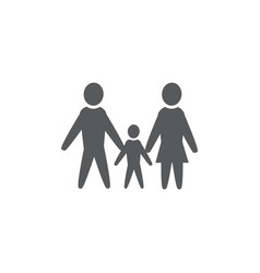 family icon on white background vector image
