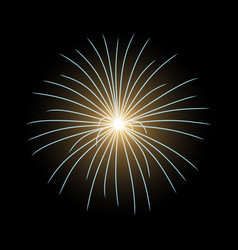 festive firework burst golden color vector image
