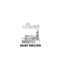 France saint emilion line travel skyline set vector
