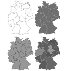 Germany map set vector image