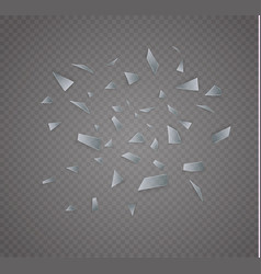 Glass is broken on a transparent background vector