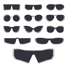 Glasses template isolated vector
