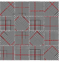glen plaid pattern vector image