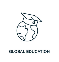 Global education icon from education collection vector