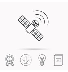 GPS icon Satellite navigation sign vector image
