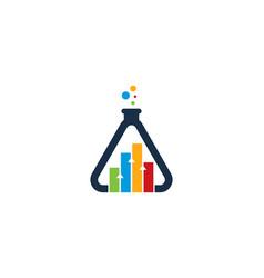 Graph science lab logo icon design vector