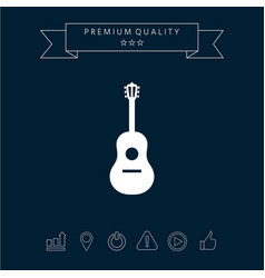 guitar icon symbol vector image