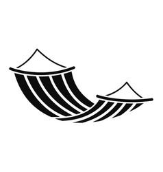 Hammock icon simple style vector