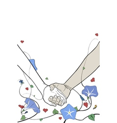 hands holding vector image