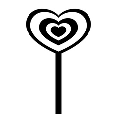 Heart candy icon simple style vector