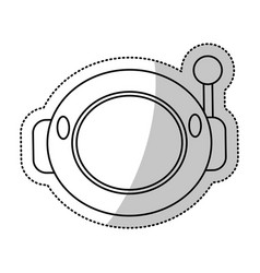 helmet astronaut space outline vector image