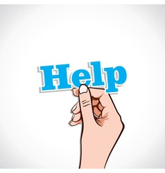Help word in hand vector image