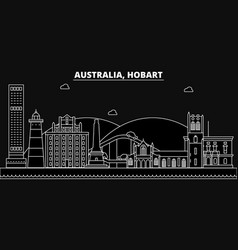 Hobart silhouette skyline australia - hobart vector