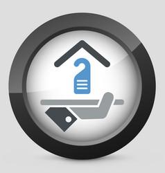 hotel icon privacy concept vector image