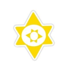 Icon sticker realistic design on paper alchemy vector