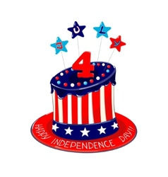 Independence Day cake vector image