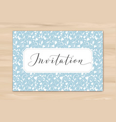 invitation card with hand written custom vector image