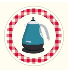 Kitchen teapot vector image
