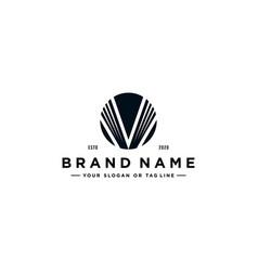 Letter v book logo design vector