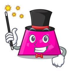Magician trapezoid mascot cartoon style vector