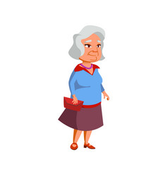 Mature age lady on date in restaurant cartoon vector