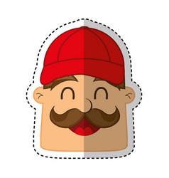 mechanic avatar character icon vector image