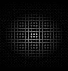 Metal texture polygon black background vector