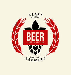 Modern craft beer drink isolated logo sign vector