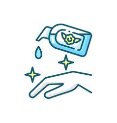 Moisturizing hand sanitizer blue rgb color icon vector