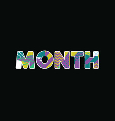 month concept word art vector image
